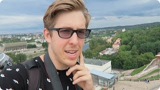 American explores Vilnius Lithuania! | Evan Edinger Travel