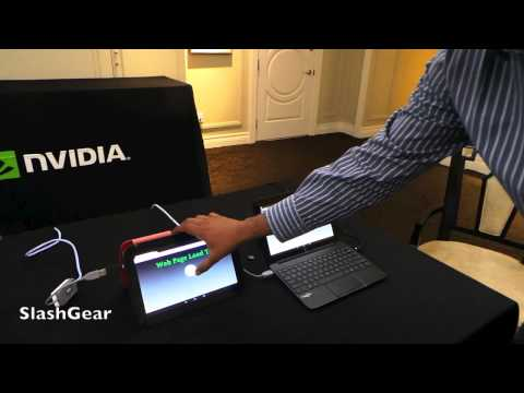 HP Slatebook x2 with Tegra 4 browser test vs Nexus 10