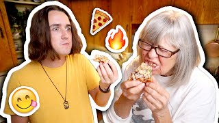 Barbecuing Pizza! | Cooking With Chris (And Grandma!)