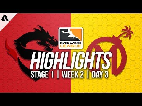 Shanghai Dragons vs Florida Mayhem ft Logix Roshan | Overwatch League Highlights OWL Week 2 Day 3