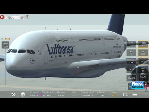 Infinite Air Flight Simulator A380 Lufthansa Airline Android İos  Free Game GAMEPLAY VİDEO