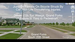 Female Grand Forks Juvenile On Bicycle Struck By Car