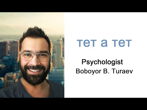 Психолог Бобоёр Тураев Boboyor B. Turaev