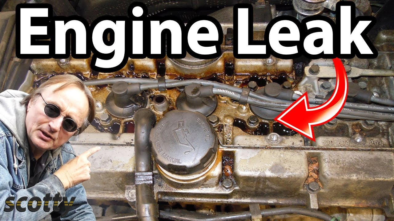 fixing  common engine oil leak youtube