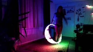 1000 tons of luck   Music Hoop Dance