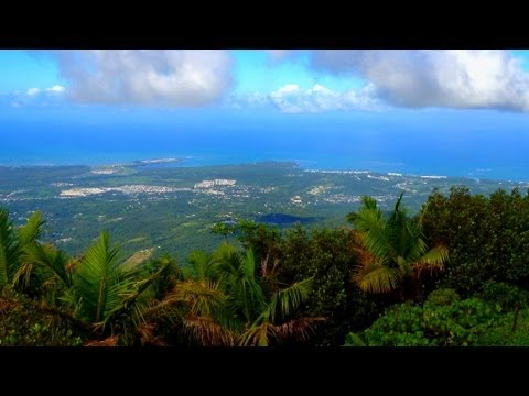 EL YUNQUE Rainforest, VIEWS FROM THE VERY TOP of Puerto Rico