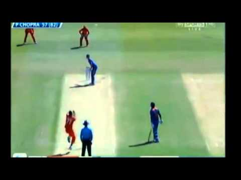 Prashant Chopra vs Zimbabwe U19 Cricket World Cup 2012