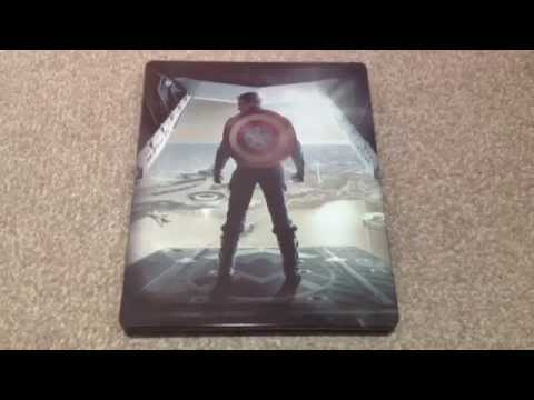 Captain america: The winter soldier UK blu-ray steelbook unboxing
