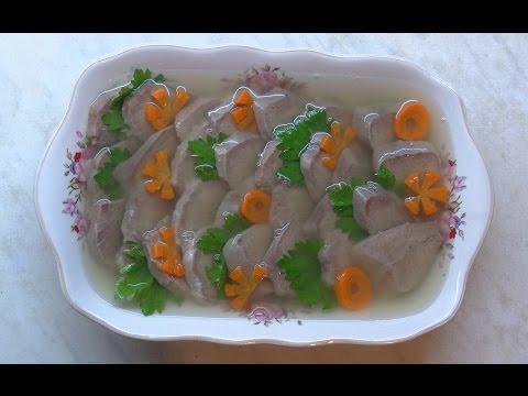 Заливной свинной язык / Jellied pork tongue
