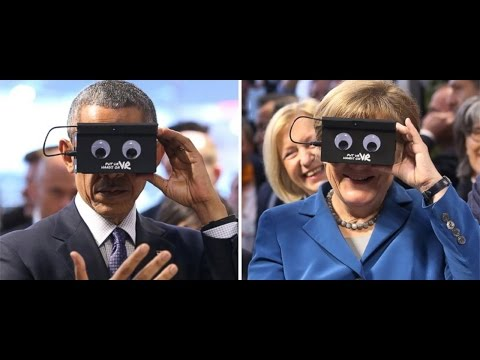 Obama, Angela Merkel Geek Out With VR Goggles