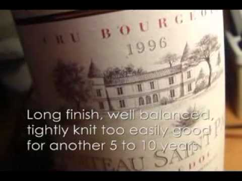 Order 1996 Chateau St Paul, Haut-Medoc in fine dining restaurant in Clark, Philippines