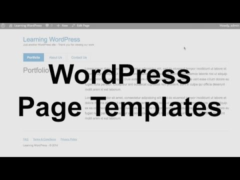 WordPress Page Templates (Theme Development)