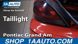 How To Install Replace Rear Taillight Pontiac Grand AM 99-06 1AAuto.com