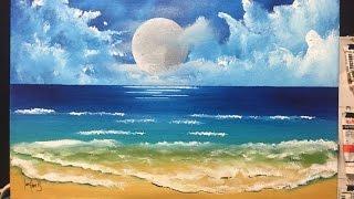 moon beach (acrylic)