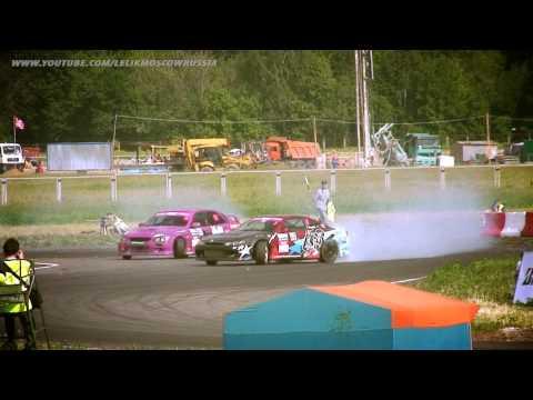 TOP8 Цаплик - Костючик 3stage Moscow RDS РДС Москва 2011 Russian Drift Series