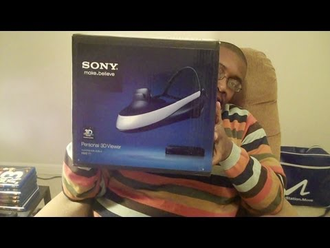 Sony 3D Personal Viewer UNBOXED with M4d Ski11z