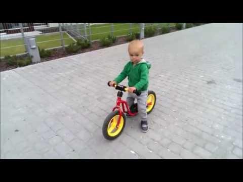 Pawełek i rowerek biegowy ( PUKY bike 1st ride)