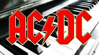 AC/DC Video - AC/DC Thunderstruck - Piano ONLY - Sheet