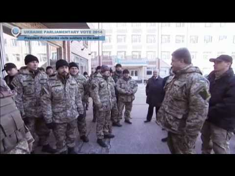 Ukraine Elections 2014: President Poroshenko visits soldiers in east Ukraine