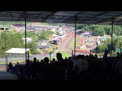Formule 1 België Francorchamps Eau Rouche tribune impressie
