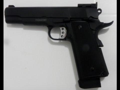 Pistola de Airsoft Colt 1911 Titan co2 6mm blowback full metal