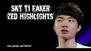SKT T1 Faker Zed Highlights 2014 - DEATH MARK