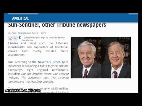 WTF : Koch brothers looking to buy Orlando Sentinel, Sun-Sentinel, other Tribune newspapers