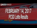 PCSO Lotto Results February 14, 2017 (6/58, 6/49, 6/42, 6D, Swertres & EZ2) MP3