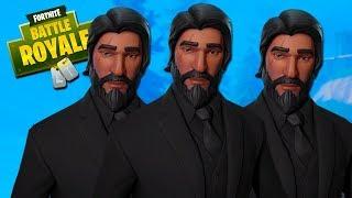 THREE JOHN WICKS!! - Fortnite with The Crew!