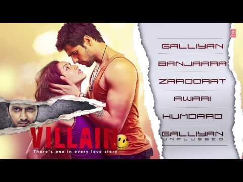 Ek Villain ~~ (hd Full Songs) Audio (jukebox)..lyrics Ankit Tiwari & Sidharth Malhotra....2014 video