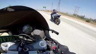 ZX-10R Spanked By GSXR 750