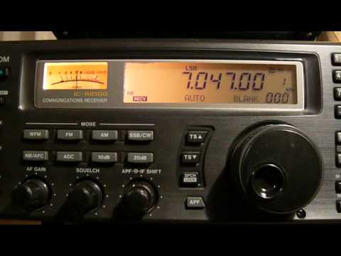 7047khz,Ham Radio II7IAOI(Nave Bergamini Special Callsign,Italy) 13-59UTC.