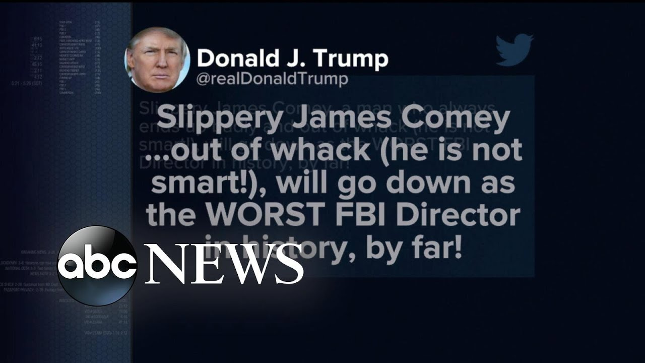 Trump tweets and calls James Comey, 'slippery' and 'out of whack'