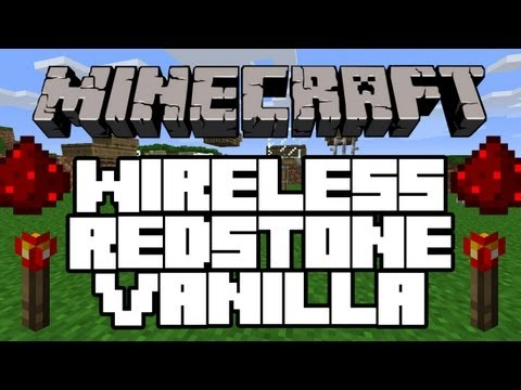 Minecraft   Wireless Redstone Vanilla   NO MODS! (TUTORIAL) (WORKS ON XBOX)