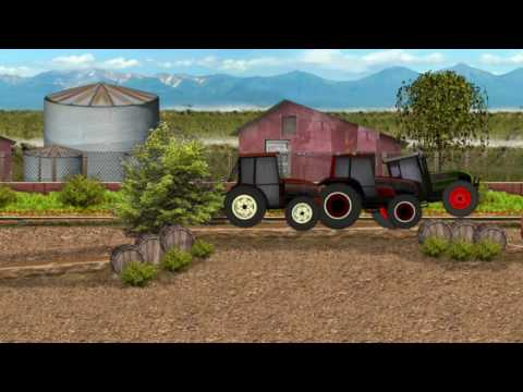 Tractor Farm Racing | cartoon for children | Game for baby