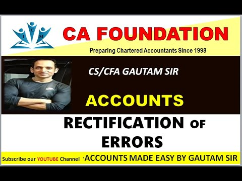 CA FOUNDATION-REVISION-RECTIFICATION OF ERRORS