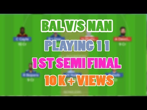 BAL VS NAN DREAM 11 TEAM 1ST SEMI FINAL T20 MATCH BALKH LEGENDS VS Nangarhar Leopards CRICDUEL