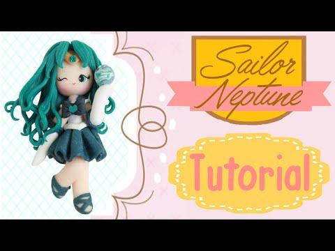 Sailor Neptune Chibi   Polymer Clay Tutorial