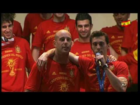Pepe Reina, El Rey de la celebracion de españa campeona del mundial de futbol 2010