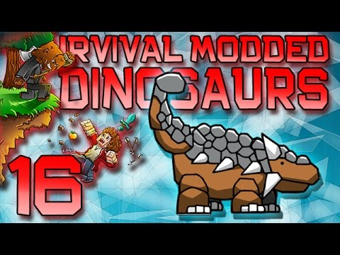Minecraft: Modded Dinosaur Survival Let's Play w/Mitch! Ep. 16 - NETHER DINO!
