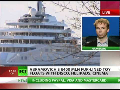 Tycoon's New Toy: World's most expensive yacht sets sail for Roman Abramovich