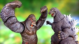 Kong vs Godzilla 2017 Battle Fight 🌋Volcano fire