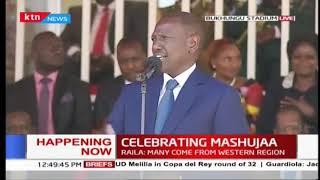 "DP Ruto jokes, ""Raila would have made a good Sunday School teacher""   #MashujaaDay2018"