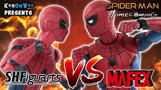 Spiderman Homecoming Action Figure Comparison - S.H Figuarts VS Mafex