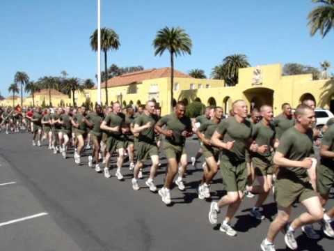 2012 March 8 - Alpha Company Moto Run at MCRD San Diego