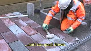 Laying paving on TuffGrit permeable bedding mortar