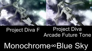 Project Diva Monochrome∞Blue Sky PV Comparison PS3 Arcade Future Tone