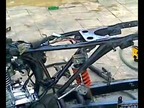 honda tmx cdi.. swing arm frm suzuki raider r 150 Video