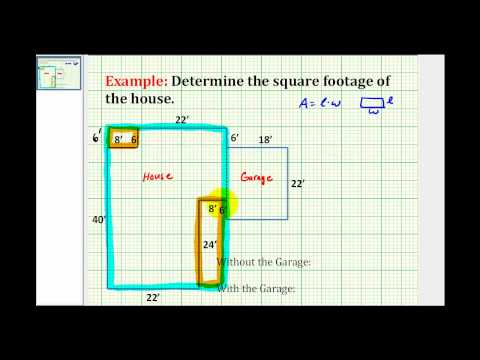 How to calculate square footage for Find sq footage