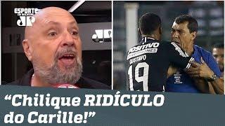 "Narrador DETONA atitude de Carille: ""que chilique RIDÍCULO!"""